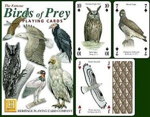 Birds Of Prey set of 52 playing cards (+ jokers)    (hpc)